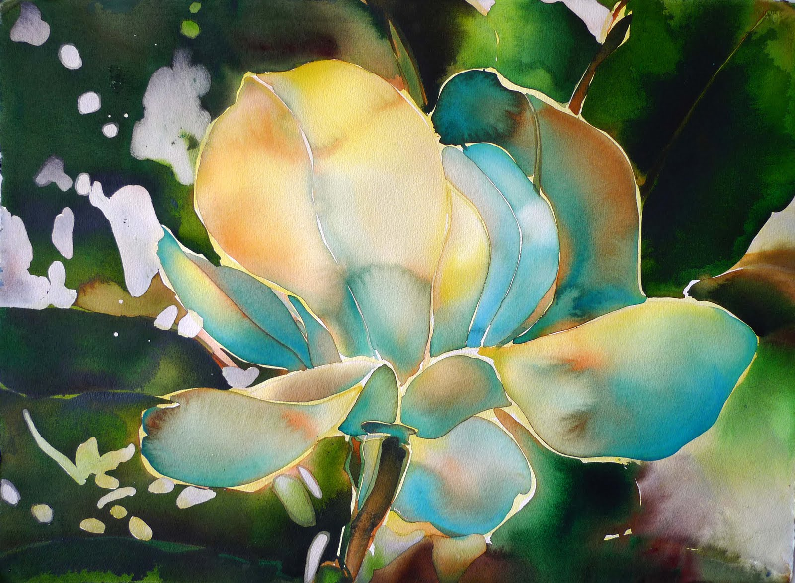 Magnolia Acrylic Painting
