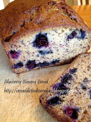 Blueberry Banana Bread | Addicted to Recipes