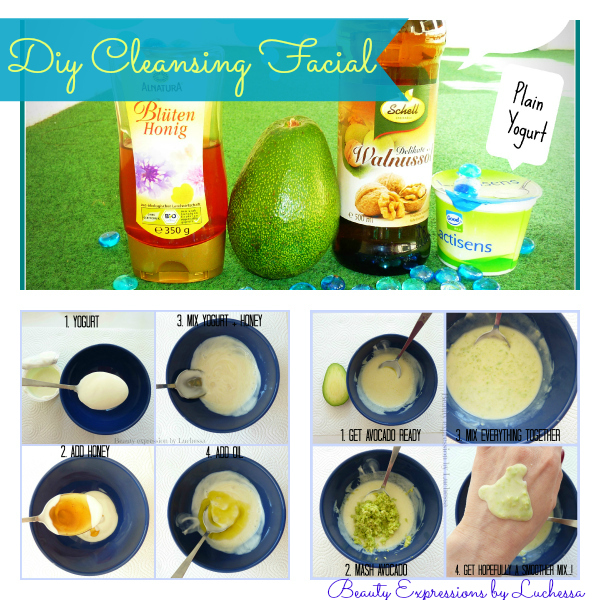Homemade cleansing facial masks