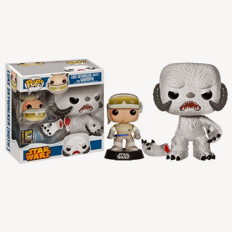 San Diego Comic-Con 2014 Exclusive Bloody Hoth Outfit Luke Skywalker & Wampa Star Wars Pop! Vinyl Figure Box Set by Funko