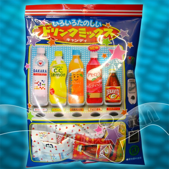 Japanese Candy Lotte Drink Mix Candy Vending Machine