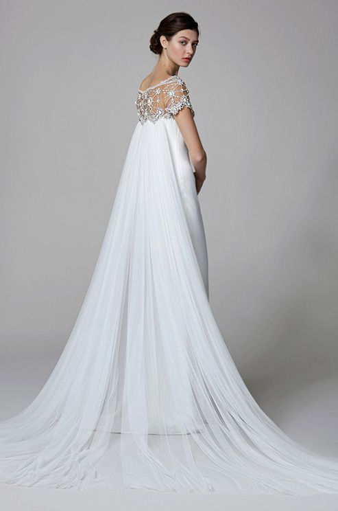 Wedding Gowns With Watteau Trains 24