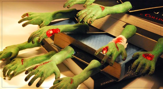 Zombie bookmark kirjanmerkki