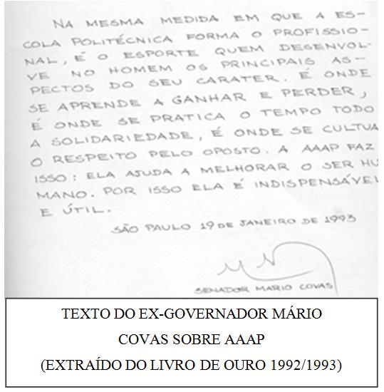 Mario Covas frase no BB