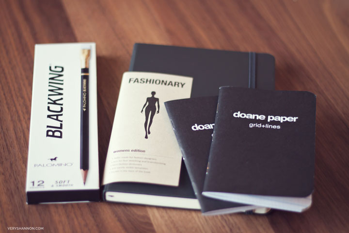 Fashionary, Doane Paper, Blackwing Palomino Pencils - Making Ourselves on VeryShannon #makingourselves