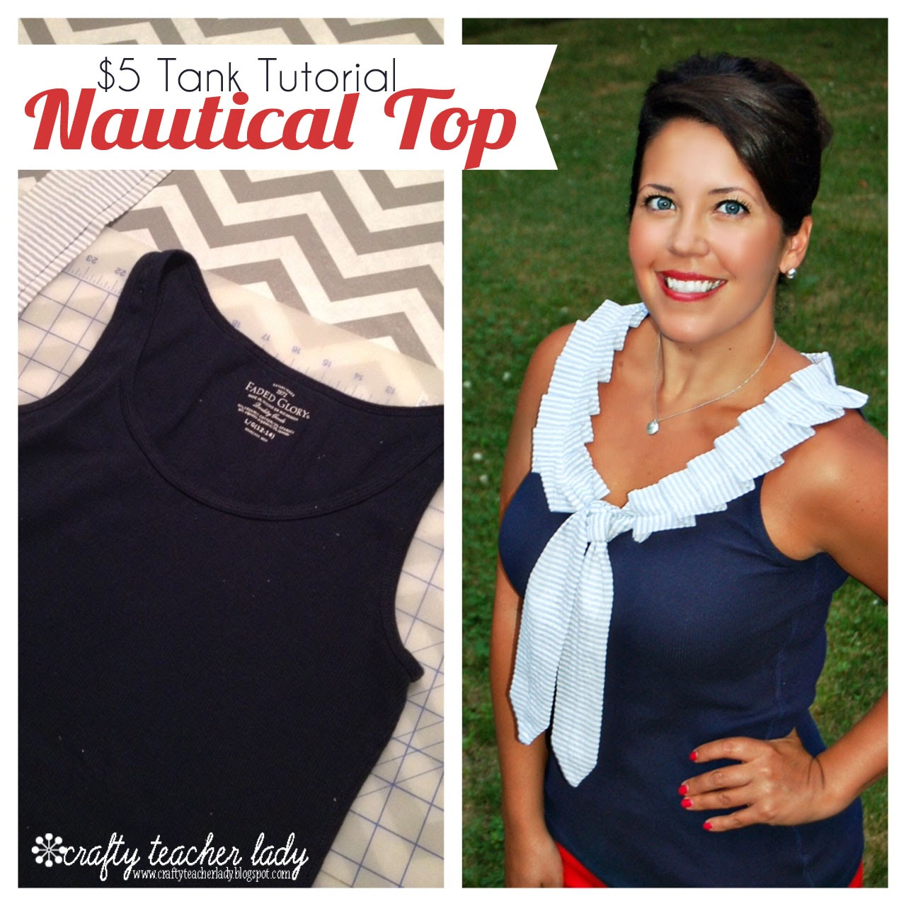 ruffled tank top tutorial diy