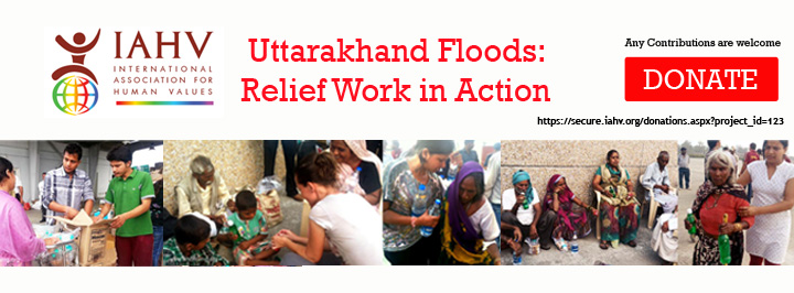 Relief work for Uttrakhand flood victims | Donate now