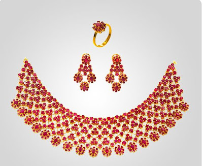JoyAlukkas Ruby Necklace Sets
