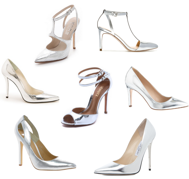O My Heart!: Metallic Silver Pumps