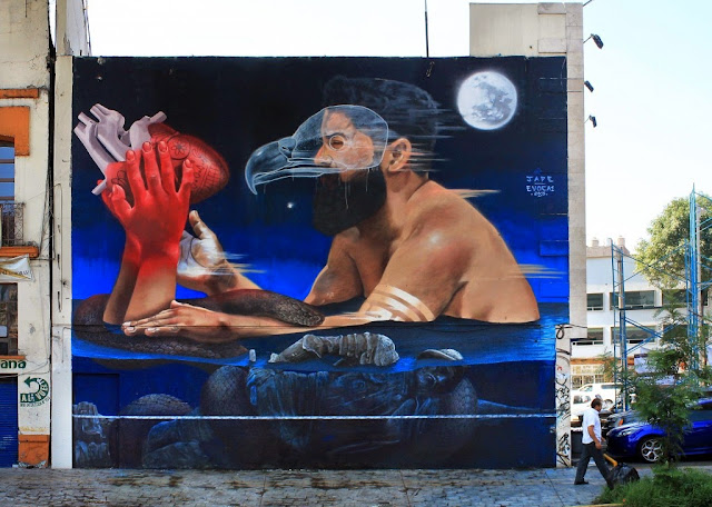 JADE and Evoca1 were also part of the Constructo Street Art Festival which recently took place on the streets of Mexico City.