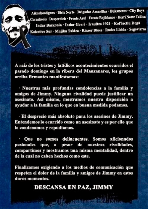 Riazor Blues, Celtarras, comunicado