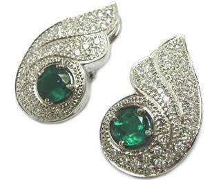 Emerald earring designs