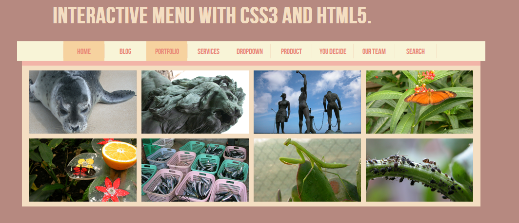 Interactive Menu with CSS3 and HTML5