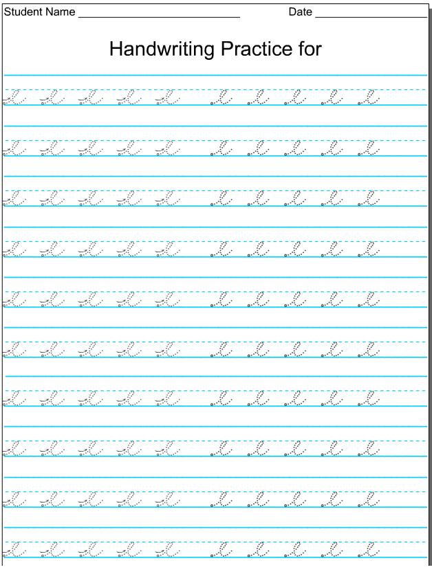 kindergarten worksheets lowercase cursive letter e