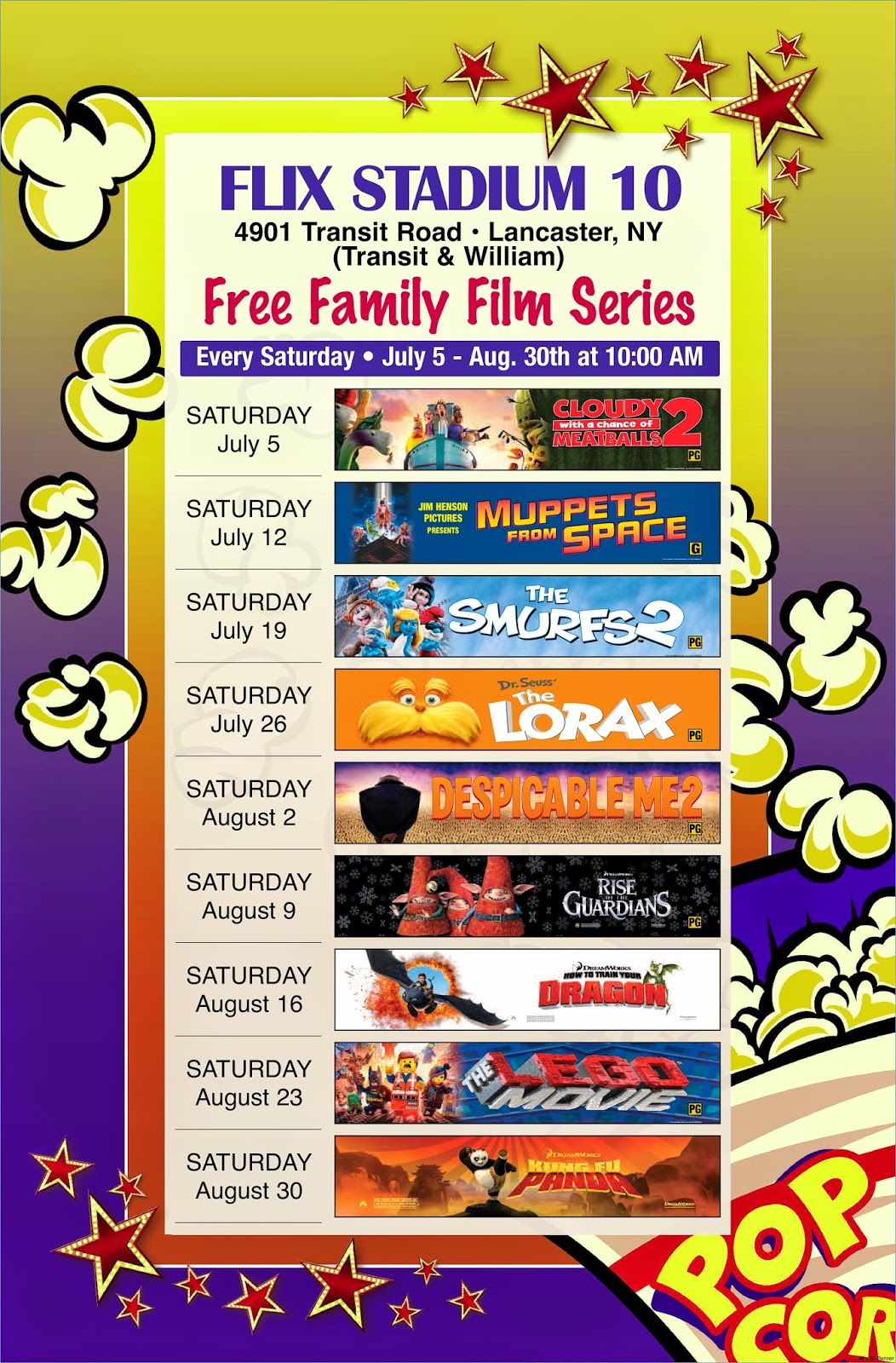 http://flix10.dipsontheatres.com/?p=content&id=Free+Family+Film+Series
