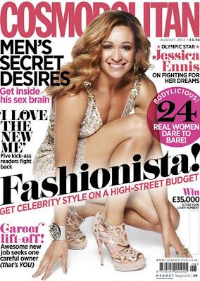 British athlete Jessica Ennis for Cosmopolitan UK  magazine August 2012 issue