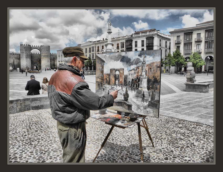 Ernest descals artista pintor avila pintura plaza santa - Fotos en cuadros ...