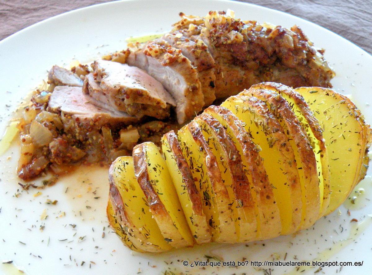 Solomillo de cerdo a la mostaza antigua con patatas - Solomillo de ternera al horno con mostaza ...