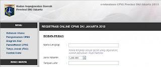 DKI Jakarta Membuka Pendaftaran CPNS 2013 Sampai Rabu 18 September