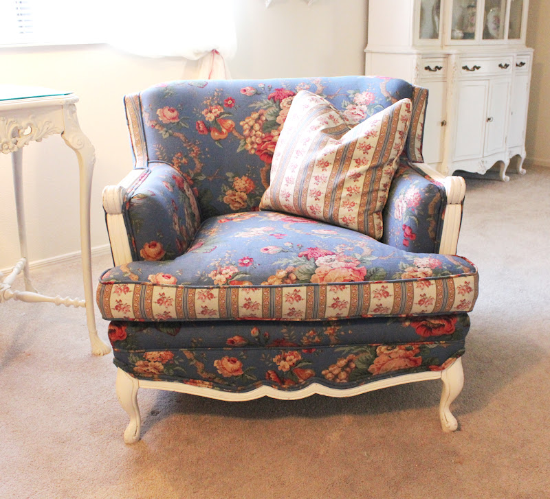 Reupholstered Vintage Chair In Floral // $400