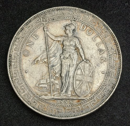 British Trade Dollar Silver Coin Of 1898 Colonial Coinage
