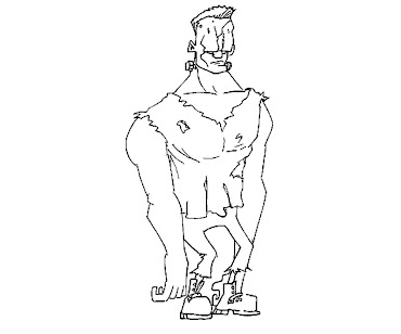 #6 Frankensteins Coloring Page