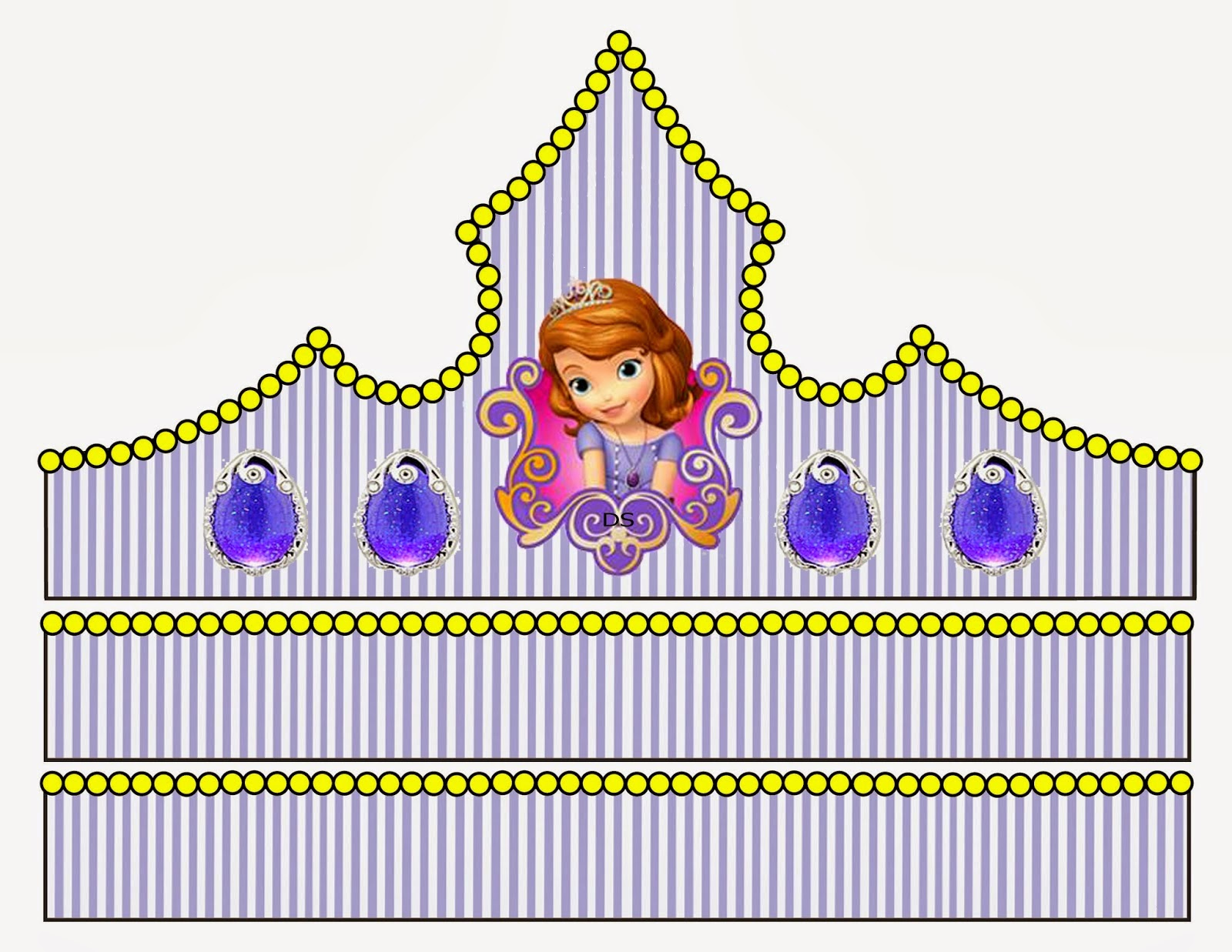 Princess Sofia Free Printable Crown or Tiara.