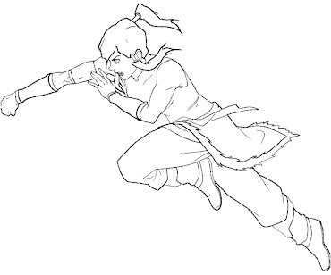 #8 Korra Coloring Page