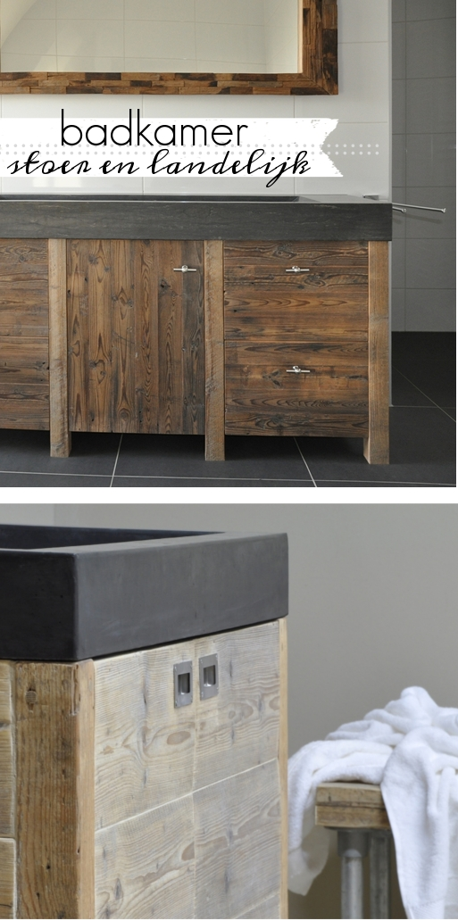 Kosten Badkamer Op Zolder ~ Badkamer meubels met een stoere uitstraling  Restyle XL  villa d