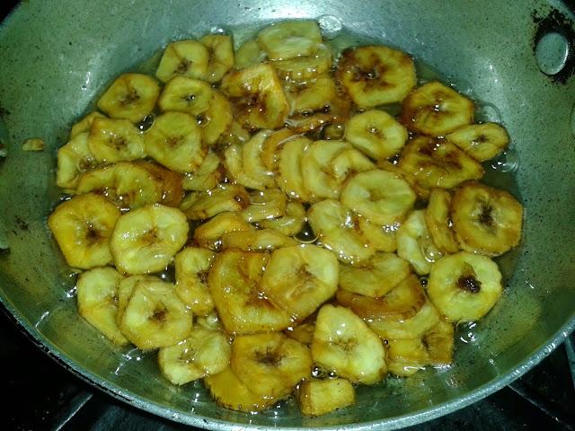 how to make banana crispy