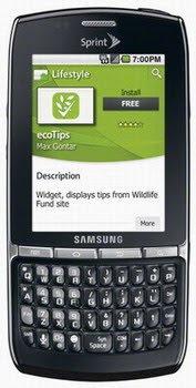 Sprint Samsung Android Phone