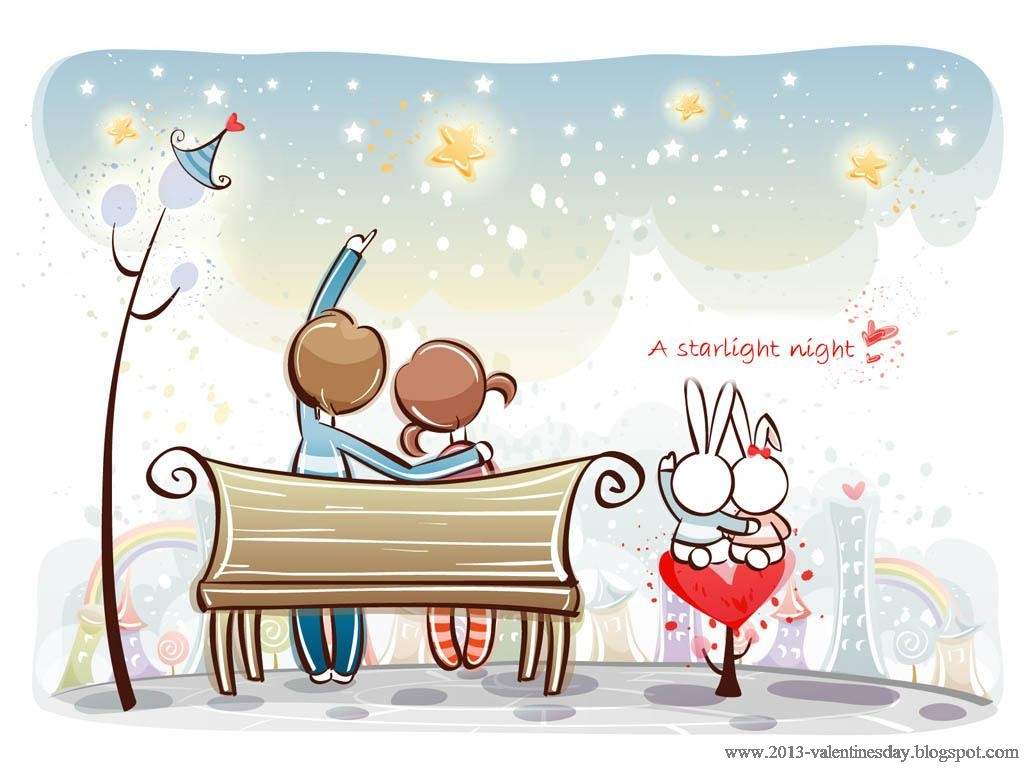 Love Wallpaper cartoon : cute cartoon couple Love Hd wallpapers for Valentines day