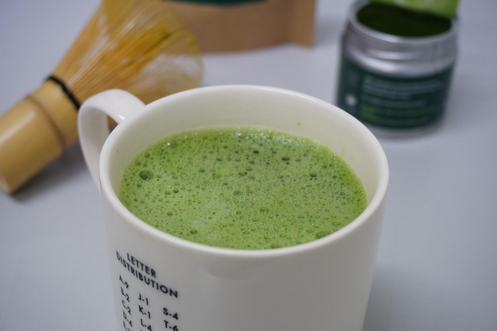 My finished up of matchs tea using my Kenko Tea Set