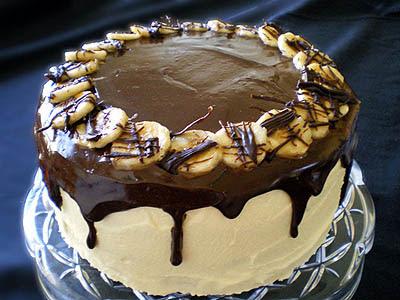 Tort de ciocolată şi banane