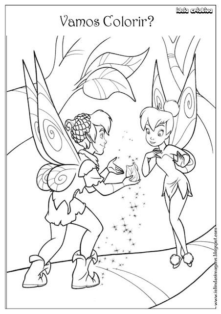 Desenho do Filme Sininho para Colorir