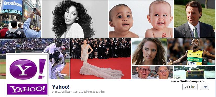Yahoo.com Facebook Timeline Page