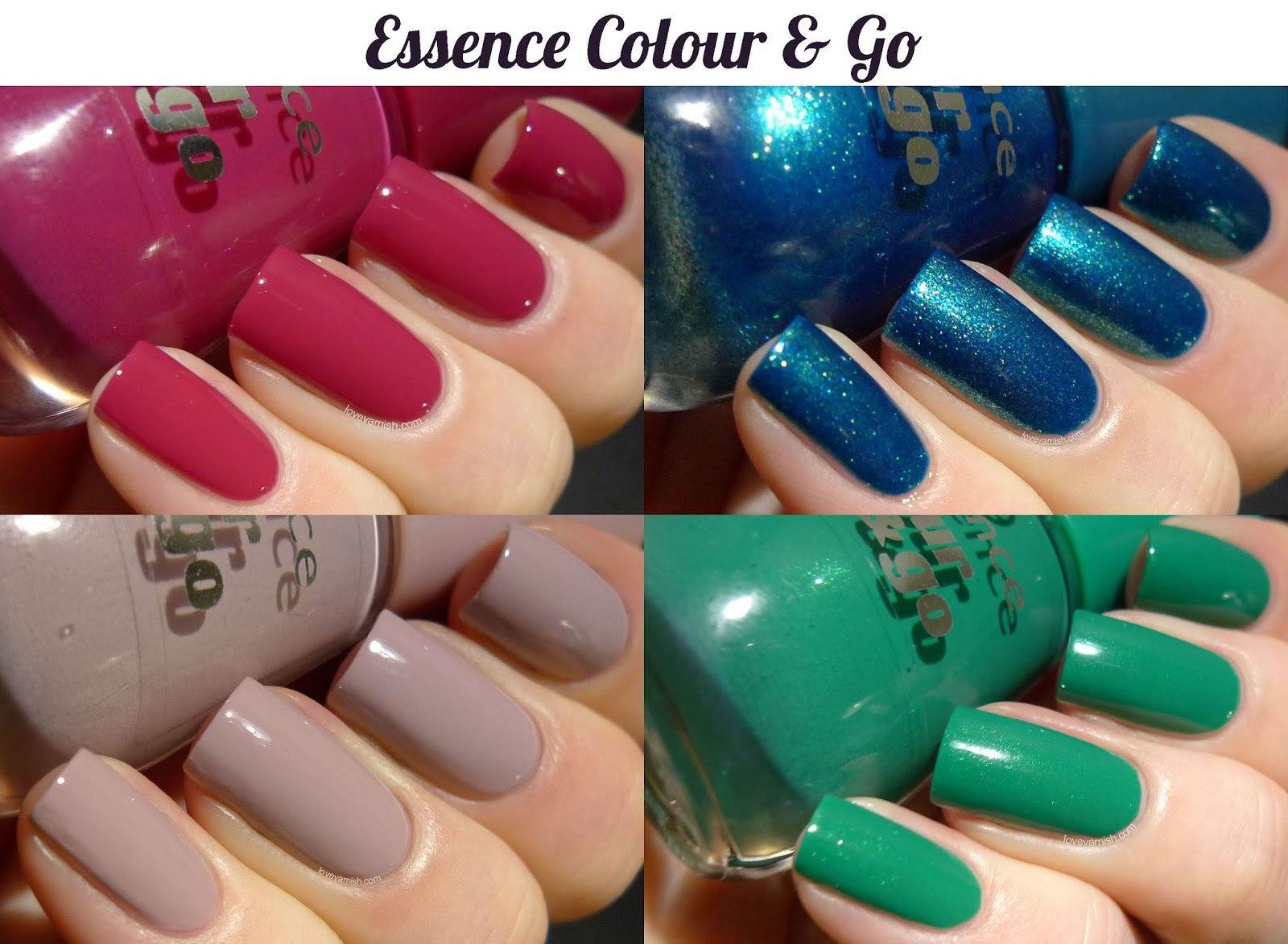 Essence Colour & Go collage nail polish swatch and review