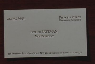 American psycho business cards in latex image from vaultofthebankrobberspot flashek Choice Image