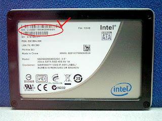 SSD Numero de serie no DRIVE