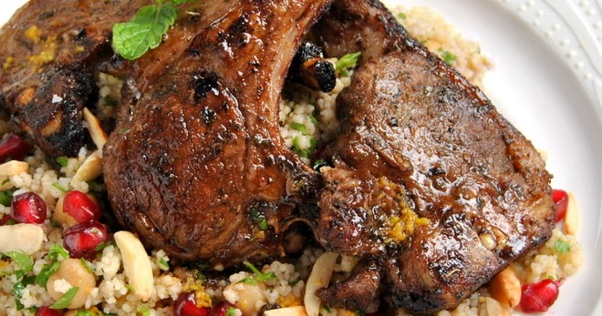 Moroccan-Spiced Lamb Chops with Citrus Couscous Salad | Scrumptious ...