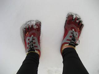 Bikila LS:t lumella.