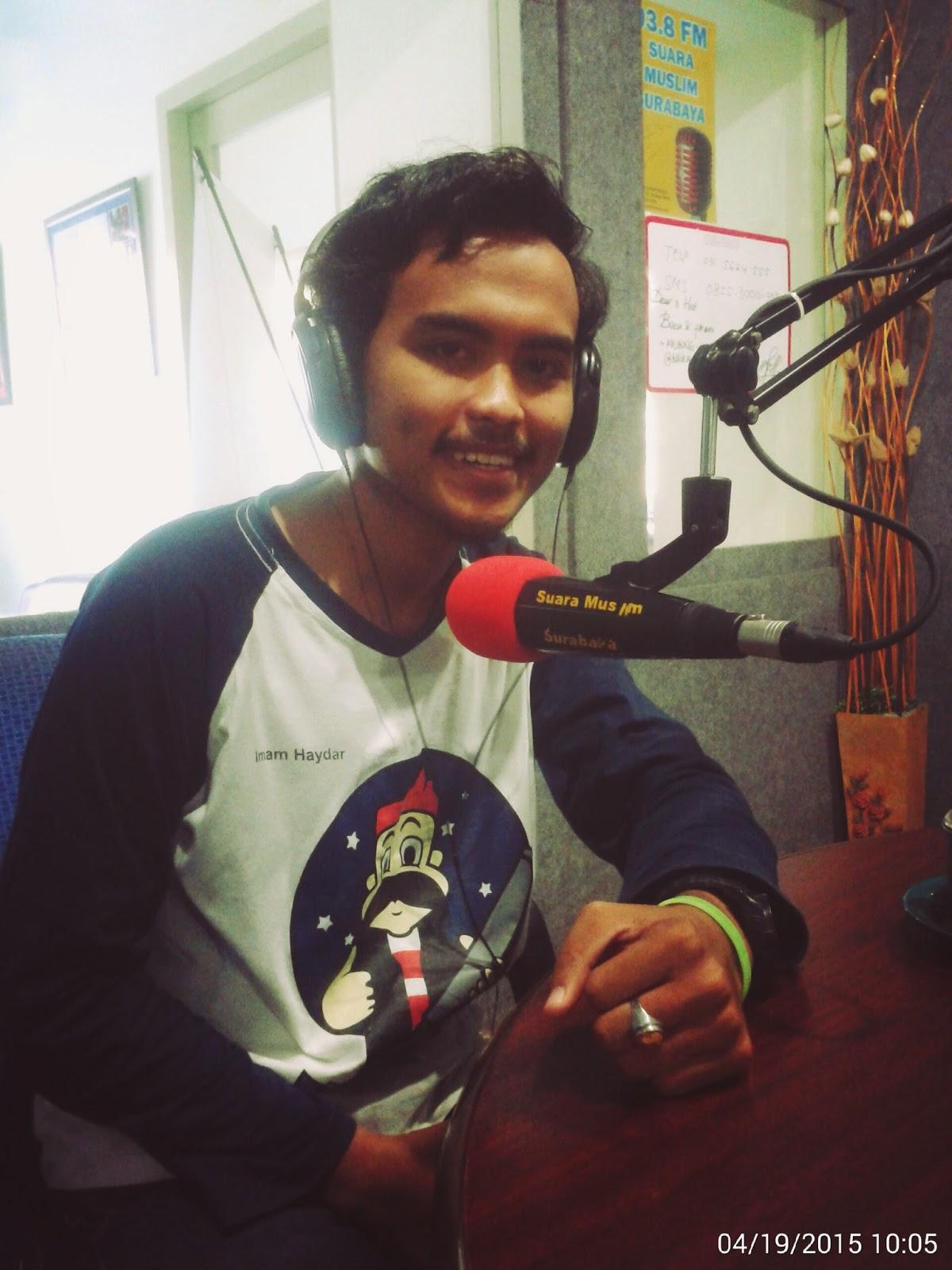 Imam Haydar siaran Radio Surabaya