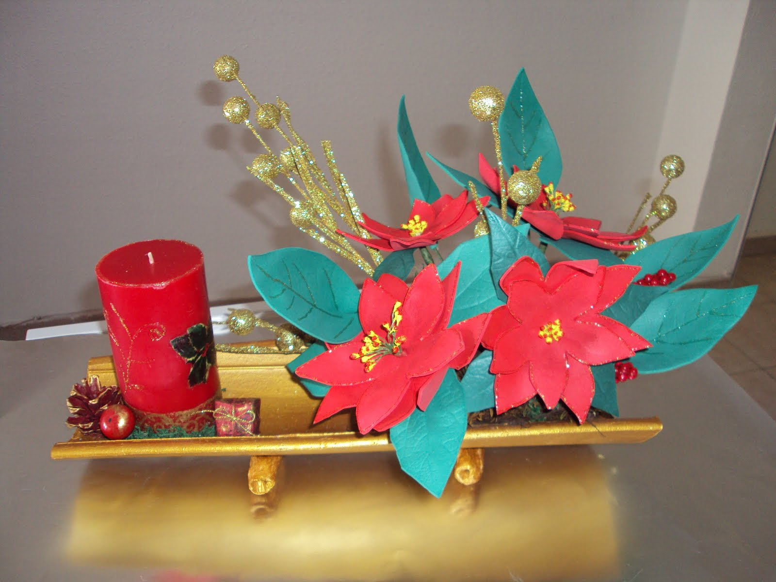 Manualidades a lo suyo centro de mesa navidad for Centro mesa navidad manualidades
