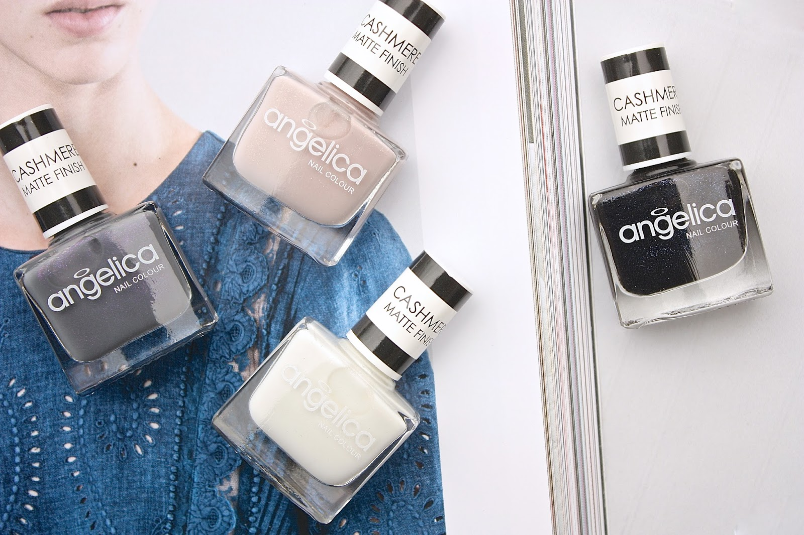 Angelica Cashmere Nail Polishes Swatches