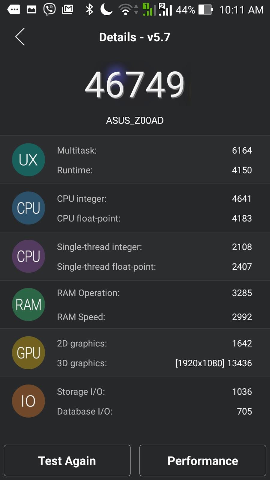 Asus ZenFone 2 ZE551ML Antutu Benchmark Score