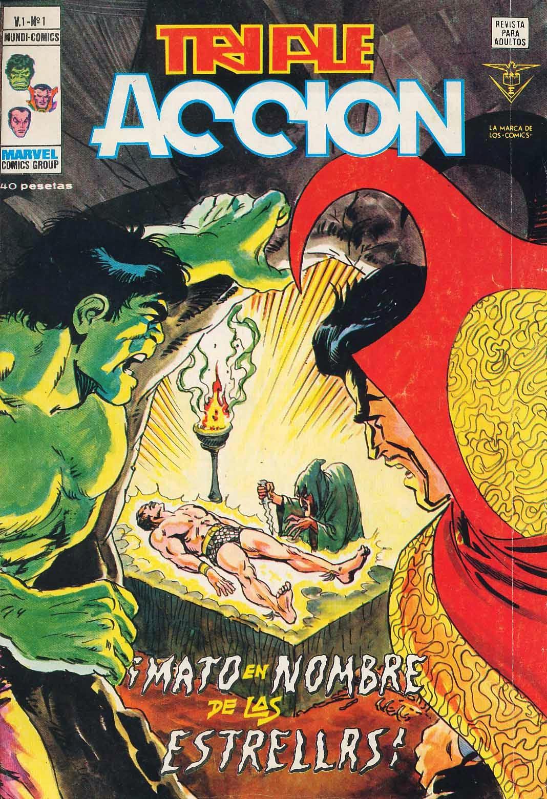 Portada de Triple Acción Volumen 1 Nº 1 Ediciones Vértice