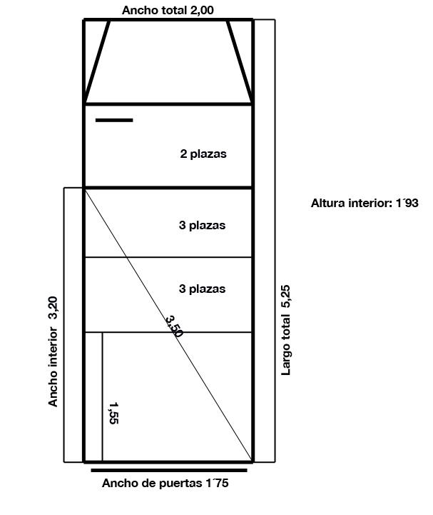 Location van madrid production van furgoneta de producci n - Medidas interiores furgonetas ...