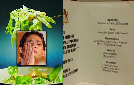 Parlimen hidang 'Scissors Salad', KJ tak sabar nak makan