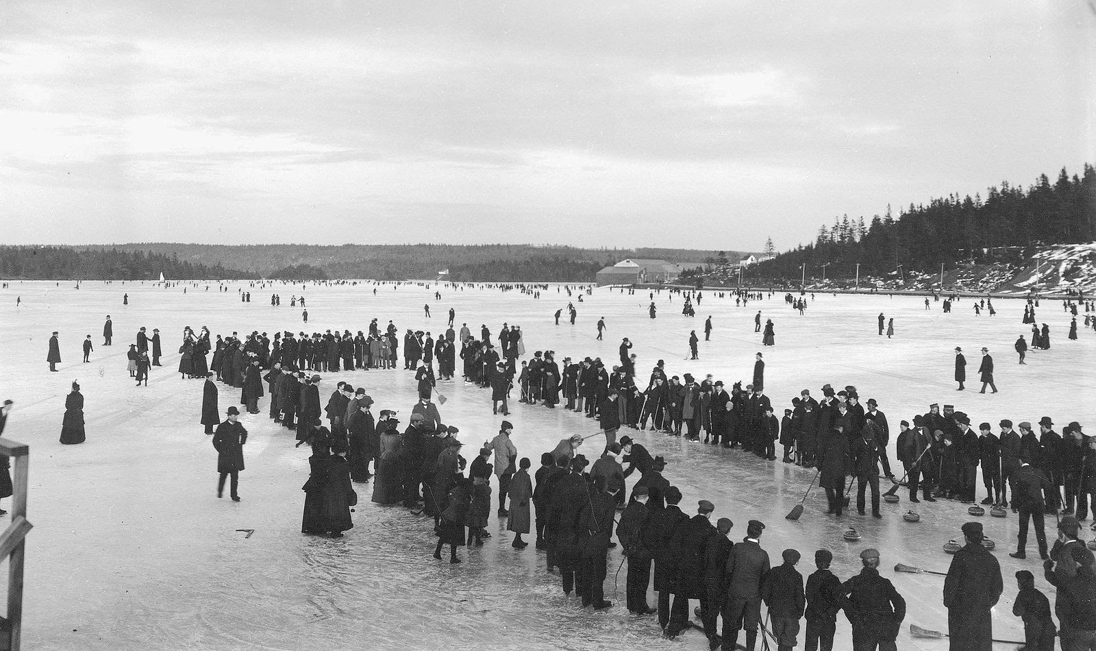 Curling On A Lake In Nova Scotia, Canada, In 1892; Photo Courtesy Of