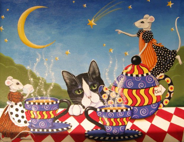 ♥ ♣ Cat & Mice Enjoy Magickal Wonder Land Tea Party! ♣ ♥